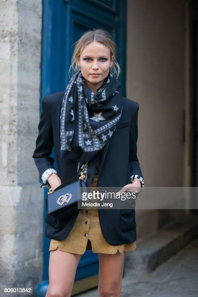 Natasha Poly outside the Dundas show on July 2 2017 in Paris France