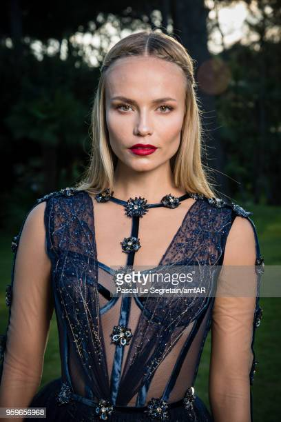 Natasha Poly poses for portraits at the amfAR Gala Cannes 2018 cocktail at Hotel du CapEdenRoc on May 17 2018 in Cap d'Antibes France