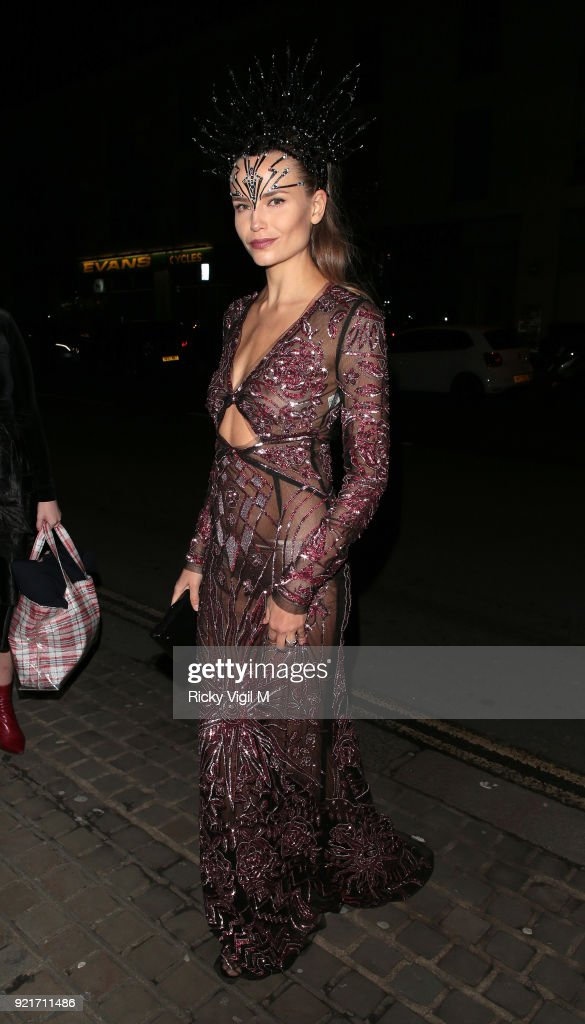 Natasha Poly seen attending the London Fabulous Fund Fair at Roundhouse during LFW February 2018 on February 20, 2018 in London, England.
