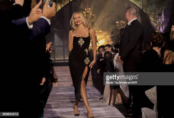 Natasha Poly walks the runway during the amfAR Gala Cannes 2018 fashion show at Hotel du CapEdenRoc on May 17 2018 in Cap d'Antibes France