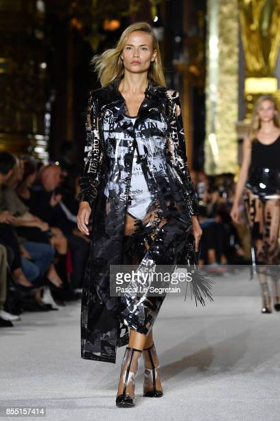 Natasha Poly walks the runway during the Balmain show as part of the Paris Fashion Week Womenswear Spring/Summer 2018 on September 28 2017 in Paris...