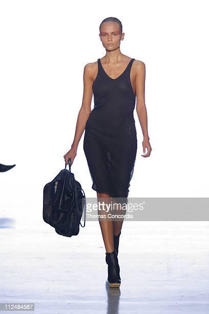 Natasha Poly wearing Calvin Klein Spring 2007 during Olympus Fashion Week Spring 2007 Calvin Klein Runway at 205 West 39th Street in New York New...