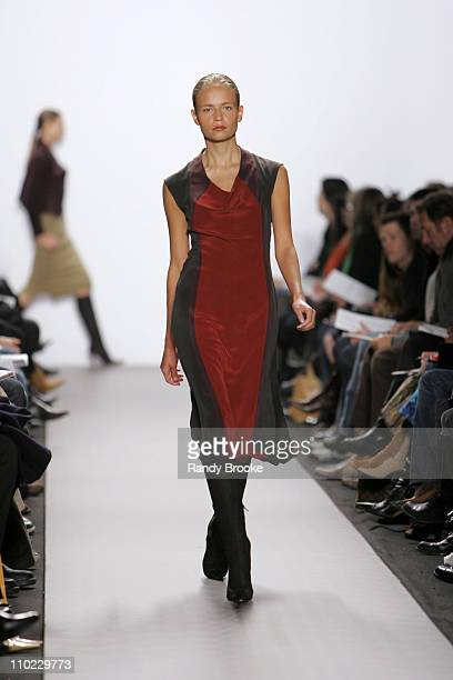 Natasha Poly wearing Kenneth Cole Fall 2005 during Olympus Fashion Week Fall 2005 - Kenneth Cole - Runway at The Tent, Bryant Park in New York City,...