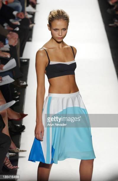Natasha Poly wearing Narciso Rodriguez Spring 2005