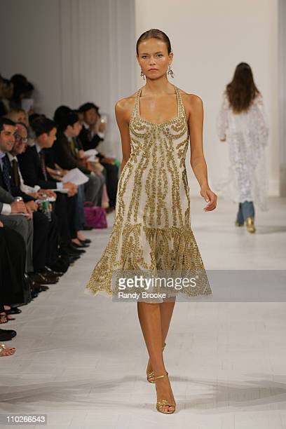 Natasha Poly wearing Ralph Lauren Spring 2006 during Olympus Fashion Week Spring 2006 - Ralph Lauren - Runway at The Annex in New York City, New...