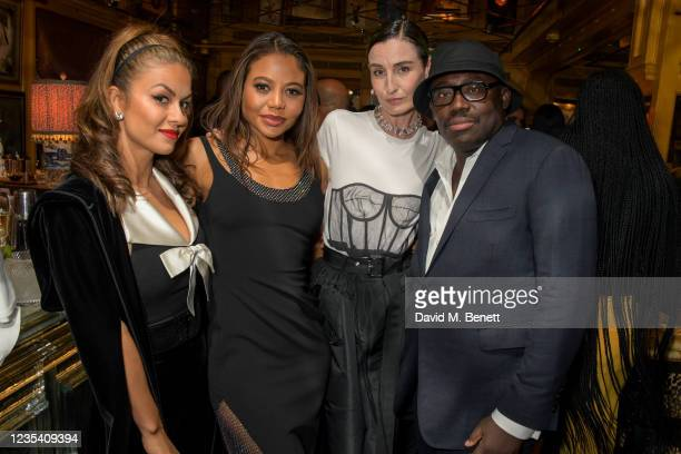 Natasha Poonawalla, Emma Weymouth, Marchioness of Bath,, Erin O'Connor and Editor-In-Chief of British Vogue Edward Enninful attend the BFC...