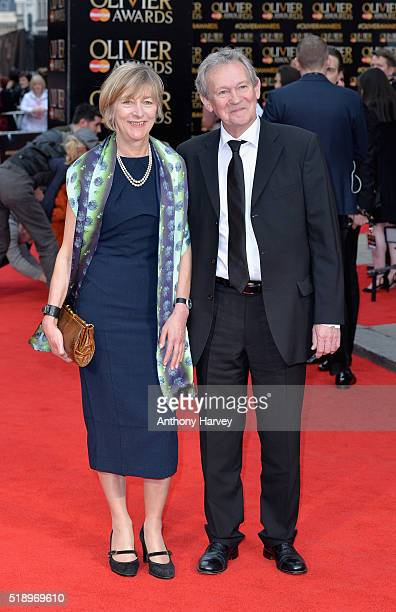 Natasha Pyne and Paul Copley attend The Olivier Awards with Mastercard at The Royal Opera House on April 3 2016 in London England