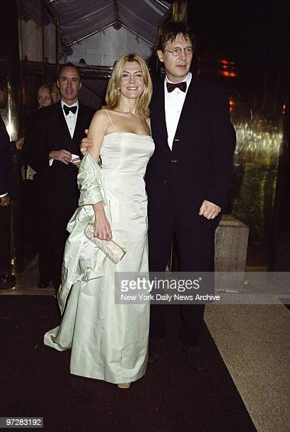 Natasha Richardson and Liam Neeson arrive at the Costume Institute Gala Rock Style an exhibit of rock 'n' roll fashions at the Metropolitan Museum of...