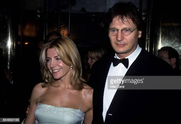 Natasha Richardson and Liam Neeson at Metropolitan Museum of Art Costume Institute Gala, New York, December 6, 1999.