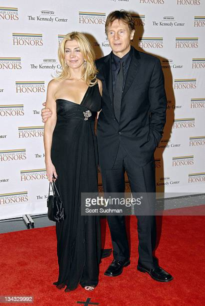 Natasha Richardson and Liam Neeson during 2006 Kennedy Center Honors at United States State Department in Washington DC United States