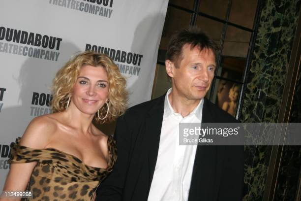 Natasha Richardson and Liam Neeson during A Streetcar Named Desire on Broadway Curtain Call and After Party at Roundabout Theater at Studio 54 in New...
