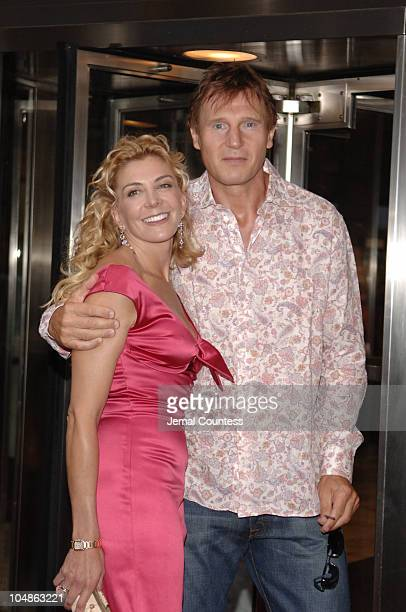 Natasha Richardson and Liam Neeson during Asylum New York City Premiere at MGM Screening Room in New York City New York United States