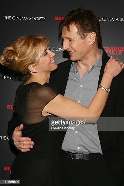 Natasha Richardson and Liam Neeson during Seraphim Falls New York Screening Hosted by The Cinema Society Inside Arrivals at Tribeca Grand Hotel Grand...