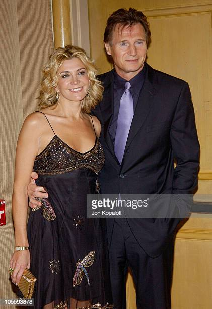 Natasha Richardson and Liam Neeson during The 30th Annual Los Angeles Film Critics Association Awards at St. Regis Hotel in Century City, California,...