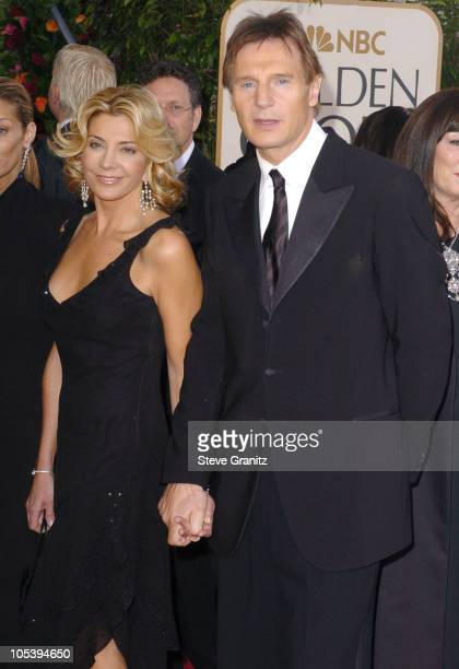 Natasha Richardson and Liam Neeson during The 62nd Annual Golden Globe Awards Arrivals at Beverly Hilton Hotel in Los Angeles California United States