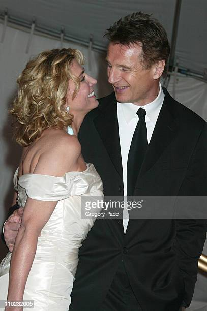 Natasha Richardson and Liam Neeson during The Costume Institute's Gala Celebrating Chanel Departures at The Metropolitan Museum of Art in New York...