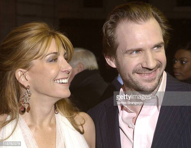 Natasha Richardson and Ralph Fiennes during 'The White Countess' London Premiere Arrivals at Curzon Mayfair in London Great Britain