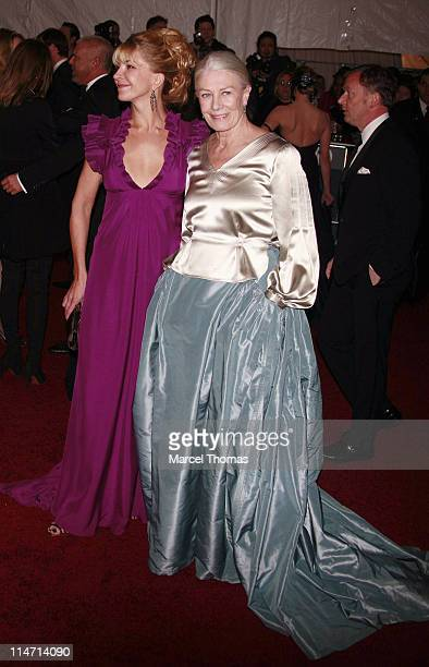 Natasha Richardson and Vanessa Redgrave during Poiret King of Fashion Costume Institute Gala at The Metropolitan Museum of Art Arrivals at...