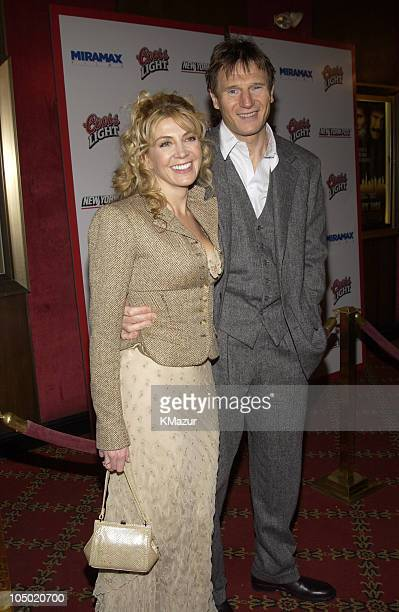 Natasha Richardson Liam Neeson during Gangs of New York World Premiere at Ziegfeld Theater in New York City New York United States