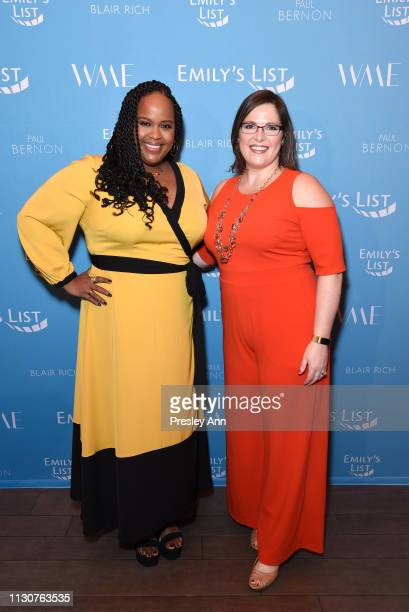Natasha Rothwell and EMILY's List Executive Director Emily Cain attend Raising Our Voices Supporting More Women in Hollywood Politics at Four Seasons...