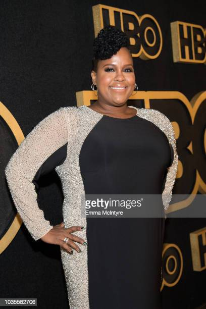 Natasha Rothwell arrives at HBO's Post Emmy Awards Reception at the Plaza at the Pacific Design Center on September 17 2018 in Los Angeles California