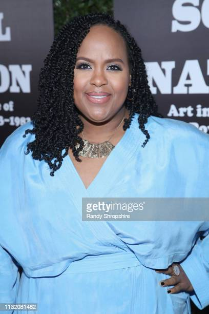 Natasha Rothwell attends The Broad Museum celebration for the opening of Soul Of A Nation Art in the Age of Black Power 19631983 Art Exhibition at...