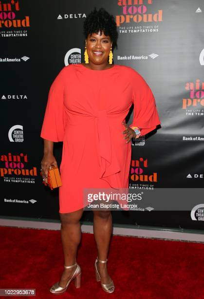 Natasha Rothwell attends the Opening Night of 'Ain't Too Proud The Life And Times Of The Temptations' at the Ahmanson Theatre on August 24 2018 in...