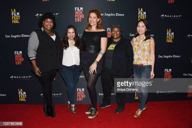 Natasha Rothwell Gloria Calderon Kellett Our Lady J LaToya Morgan and Rebecca Sun attend the 2018 LA Film Festival We The People True Reflections of...