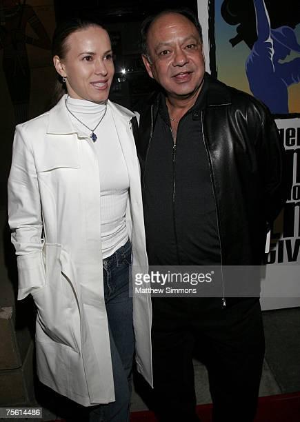 Natasha Rubin and Cheech Marin