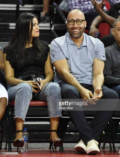 Natasha SenFizdale and head coach David Fizdale of the New York Knicks attend a game between the Knicks and the Phoenix Suns during the 2019 NBA...