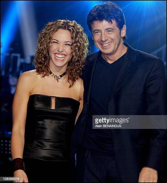 Natasha St Pier Patrick Bruel in Paris France on February 15 2003