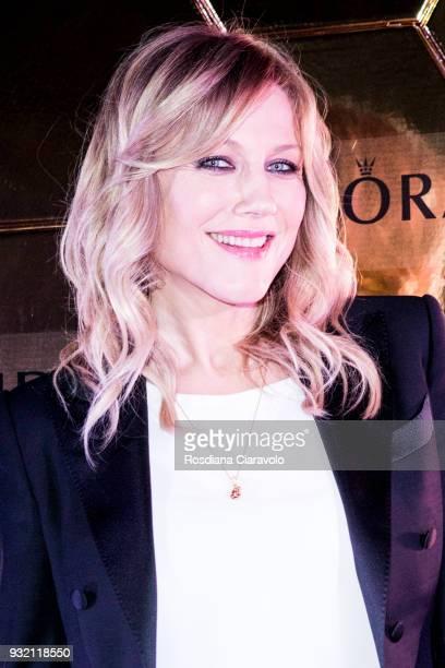 Natasha Stefanenko attends Pandora Shine Launch on March 14 2018 in Milan Italy