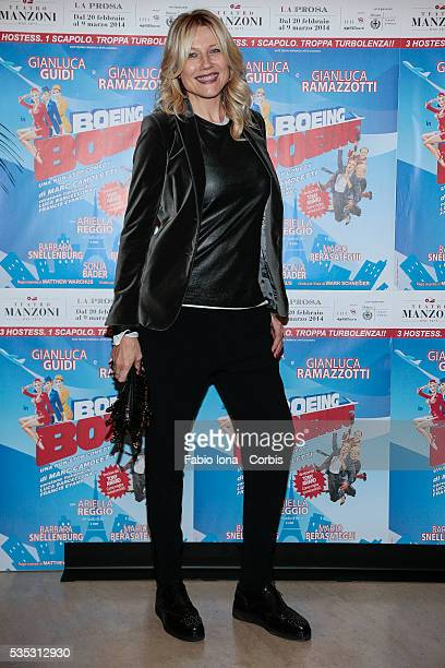 Natasha Stefanenko attends the first night Boing Boing at Manzoni's Theater on February 20 2014 in Milan/Italy