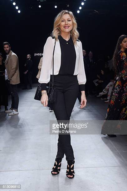Natasha Stefanenko attends the PiccionePiccione show during Milan Fashion Week Fall/Winter 2016/17 on February 29 2016 in Milan Italy