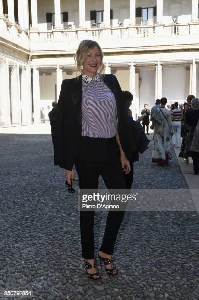 Natasha Stefanenko attends the Vivetta show during Milan Fashion Week Spring/Summer 2018 on September 21 2017 in Milan Italy