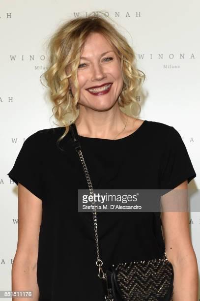 Natasha Stefanenko attends the Winonah Presentation during Milan Fashion Week Spring/Summer 2018 at on September 22 2017 in Milan Italy