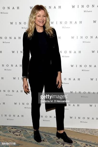 Natasha Stefanenko attends Winonah presentation during Milan Fashion Week Fall/Winter 2017/18 on February 24 2017 in Milan Italy