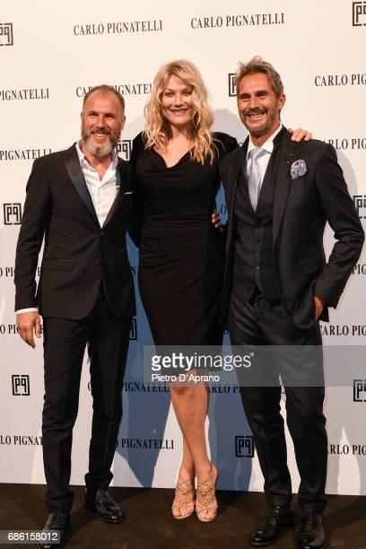 Natasha Stefanenko Luca Sabbioni attends the Carlo Pignatelli Haute Couture fashion show on May 20 2017 in Milan Italy