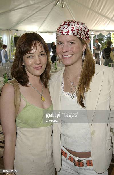 Natasha Wagner in Coach and Courtney Wagner during Coach Luncheon to Benefit Peace Games at Quincy Jones' House in Bel Air California United States