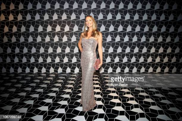 Natasha Webber poses during the NGV Gala 2018 at National Gallery of Victoria on December 1 2018 in Melbourne Australia