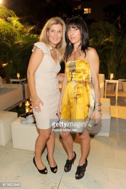 Natasha Wolber and Sarah Banks attend MAYBACH and MOCA Art Basel Party with LCD SOUNDSYSTEM at The Raleigh Hotel on December 1 2010 in Miami Florida