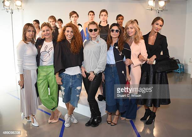 Natasha Zinko and friends attend the Natasha Zinko presentation during London Fashion Week Spring/Summer 2016/17 on September 19 2015 in London...