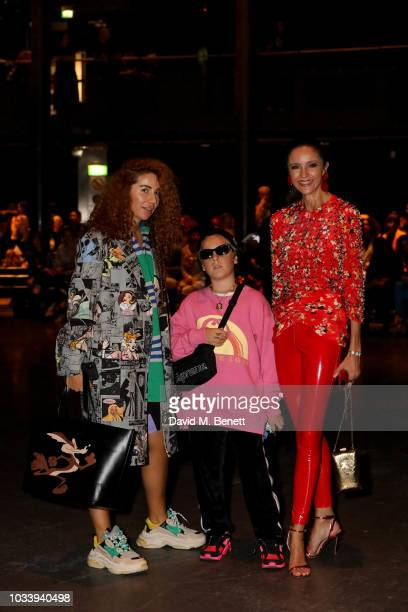 Natasha Zinko and Luna De Casanova attend Mary Katrantzou SS19 show production by Family Limited on September 15 2018 in London England
