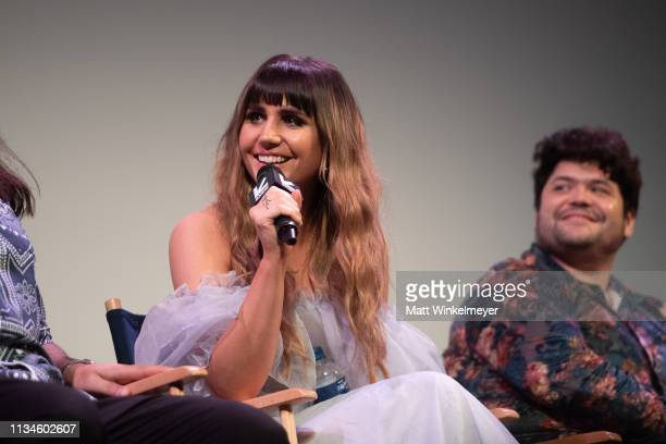 """Natasia Demetriou attends the """"What We Do in the Shadows"""" Premiere 2019 SXSW Conference and Festivals at the Paramount Theater at Stateside Theater..."""