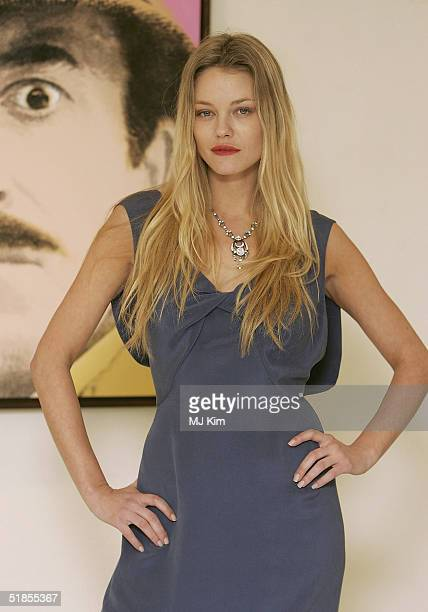 Natasja Vermeer attends photocall for new film Private Moments after shooting movie scenes in Portobello Road on December 13 2004 in London