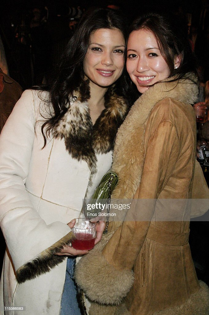 Natassia Malthe and Mara Lane during Cadillac Presents Rock & Republic Fall 2005 Fashion Show - Backstage and Front Row at Sony Studios in Culver City, California, United States.