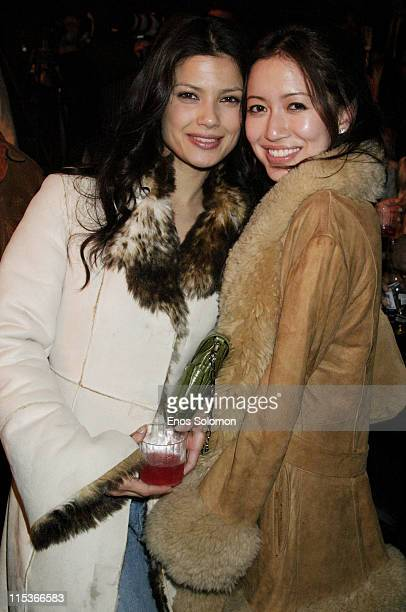 Natassia Malthe and Mara Lane during Cadillac Presents Rock & Republic Fall 2005 Fashion Show - Backstage and Front Row at Sony Studios in Culver...