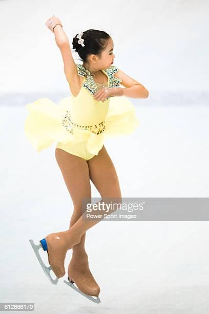 Natcha Ketsarin of Thailand competes during the Asian Junior Figure Skating Challenge Hong Kong 2016 at Kowloon Tong's Festival Walk Glacier on 03...