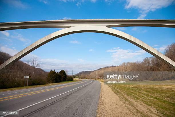 Natchez Trace Parkway arched bridge, Nashville, TN