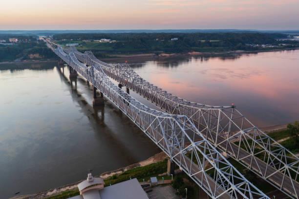 Natchez-Vidalia Bridge Across the Mississippi River